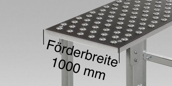 Kugelrollentisch Teilung 100 - Förderbreite 1000
