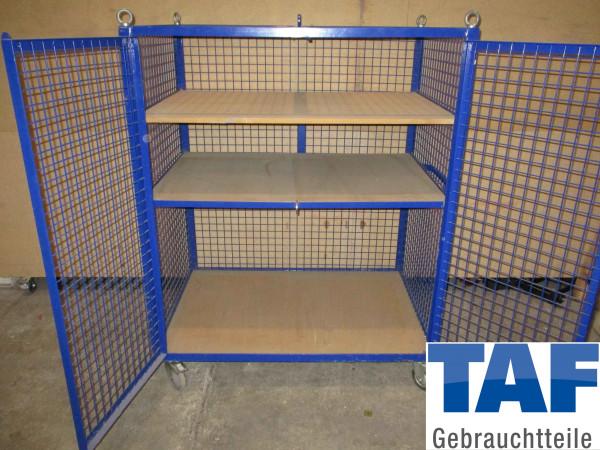 Gitter-Schrankwagen-Gitterbox auf Rollen Gitterrollwagen - 3 Ebenen