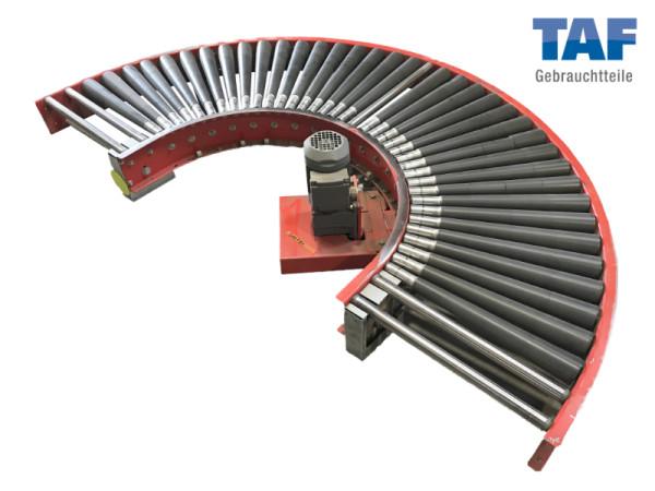 Gebrauchte Rollenbahn-Kurve angetrieben 180°